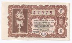 Lotería sorteo 36 de 1953 Navidad