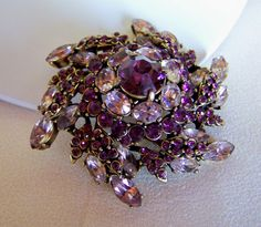 Signed Hollycraft Corp 1952 Purple Amethyst by JanesVintageJewels, $78.00