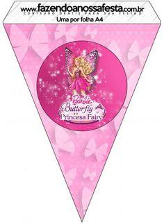 Barbie ve Kelebek Temalı Ücretsiz Parti Seti - Neşeli Süs Evim - Ücretsiz Doğum Günü Süsleri Barbie Party, Kit, Butterfly, Birthday, Sweet Like Candy, Party, Princesses, Birthdays, Butterflies