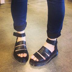 Dr Martens Clarissa Vegan Tie Dye Strappy Chunky Flat Sandals
