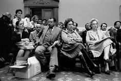 FILE - Performing artists and supporters wait to testify before a House Appropriations subcommittee on Capitol Hill in Washington on Wednesday, March 25, 1981 to criticize President Ronald Reagan's planned cuts of arts and humanities programs. From left are Anne Murphy of the Council of the Arts, actors James Earl Jones and Jean Stapleton, and Tommie Carl of the American Association of Composers. (AP Photo)
