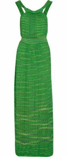 Crochet-knit cotton-blend maxi dress