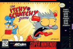 Simpsons Itchy and Scratchy Game SNES Super Nintendo Super Nintendo Games, Nintendo Sega, Nes Games, Playstation, Xbox, Pc Engine, Video Game Collection, Retro Videos, Game Guide