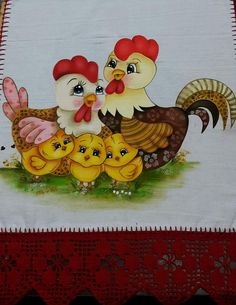 Chicken Crafts, Chicken Art, Easter Art, Easter Crafts, Painting Patterns, Fabric Painting, Free Applique Patterns, Chicken Quilt, Heart Quilt Pattern