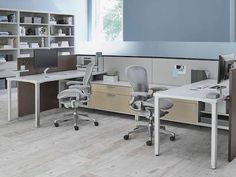 light gray aeron office chairs at canvas office landscape