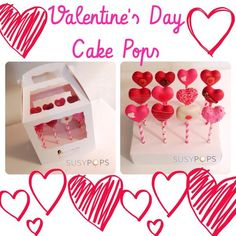Valentine's Day cake pops by SusyPops