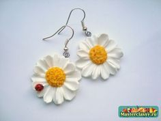 FREE TUTORIAL : how to make a daisy from polymer clay.