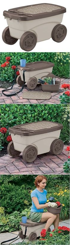 Garden Kneelers Pads And Seats 75669: Rolling Garden Cart Yard Work  Portable Seat Heavy Duty