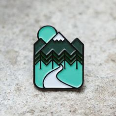 Outdoors enamel pin badge lapel badge mountain adventure