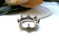 the crown necklace by barberryandlace on Etsy, $11.00