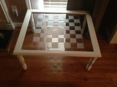 Old Window Checkerboard Table by CustomWork4You on Etsy, $125.00