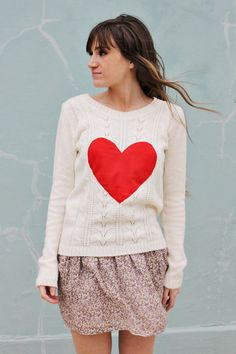 DIY: heart sweater