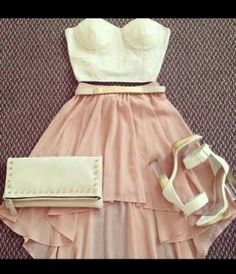 Peachy girly outfit