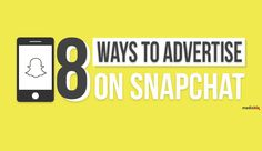Snapchat is the trending app of the moment, and marketers everywhere are looking for a way in. This infographic looks at 8 ways to use the platform for advertising purposes.
