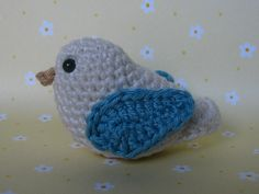 Cute Crochet Bird Pattern - so cute. use threads and make mini versions.