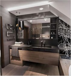 Bathroom ideas, master bathroom remodel, master bathroom decor and bathroom organization! From claw-foot tubs to shiny fixtures, they are the master bathroom that inspire me the essential. Minimal Bathroom, Modern Bathroom Decor, Bathroom Interior Design, Bathroom Furniture, Bathroom Plans, Bathroom Layout, Bathroom Renovations, Bathroom Ideas, Bathroom Designs