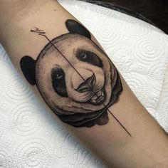 Happy Panda Tattoo by Savaş Doğan - http://www.tattooideas1.org/placement/forearm/happy-panda-tattoo-by-savas-dogan/