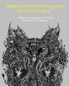 Sleepless Orientation by GACI from Muntinlupa City, Philippines  / Threadless Artist Quotes