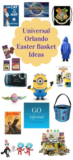 What to put in a Universal Orlando themed Easter Basket. Perfect for Easter at Universal or to bring the parks home. #universal #universalstudios #universalorlando #easter #giftidea #easterbasket