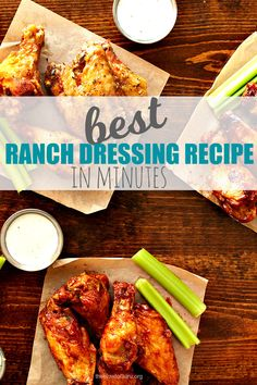 FAST & Fresh + healthier version of a ranch dressing recipe!