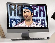 "Check out new work on my @Behance portfolio: ""Roger Federer Art Illustration."" http://be.net/gallery/61479763/Roger-Federer-Art-Illustration"