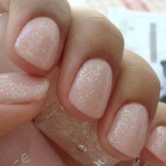 Pretty ballerina magical sparkle nails.