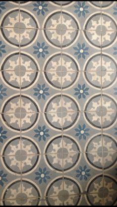 encaustic floor tiles at emerie et cie Style Tile, Painted Floors, Painting Tile, Wall Creations, Damask Pattern, Flooring, Mosaic Flooring, Coastal Interiors Design, Floor Cloth