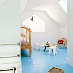 Blue floor - ZeroEnergy Design's Design, Pictures, Remodel, Decor and Ideas
