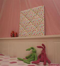 Pêle-mêle tissu pois multicolores 40*40cm