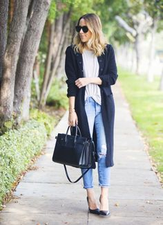 Style Inspiration for This Week: 20 Trendy Street Style Combinations - Style Motivation Simple Outfits, Classy Outfits, Stylish Outfits, Beautiful Outfits, Fashion Outfits, Girl Outfits, Unique Outfits, Casual Chic, Long Black Sweater