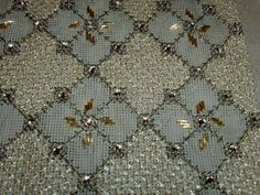 Beaded Embroidery, Cross Stitch Embroidery, Embroidery Designs, Needlepoint Stitches, Needlework, Crochet Crafts, Comforter Sets, Diy And Crafts, Colours