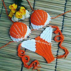Crochet Bra, Crochet Bikini Pattern, Crochet Shorts, Bead Crochet Rope, Crochet Woman, Crochet Clothes, Crochet Designs, Crochet Patterns, Crochet Bathing Suits