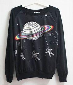 Space Astronaut Harajuku Sweater