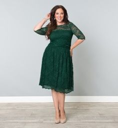 Scalloped Luna Lace Dress @ www.kiyonna.com This would be amazing on you @Rebecca Schaller