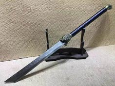 CleaverLong handled BroadswordHigh manganese steel bladeLeather scabbardLength inch ** Click image for more details. (This is an affiliate link) Zombie Weapons, Ninja Weapons, Chinese Weapons, Cool Swords, Master Sword, Fantasy Weapons, Fantasy Armor, Weapon Concept Art, High Carbon Steel