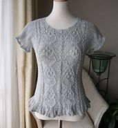 Ravelry: p.63 Ladies' Frilly Pullover pattern by Hitomi Shida (志田 ひとみ)