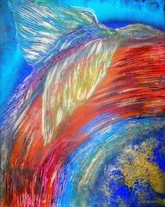 Wolność, 2010  Adriana Karima  Rozmiar oryginału 50 cm x 60 cm  Obraz jest dla wszystkich tych, którzy pragną rozwinąć skrzydła i doświadczać wolności. Na każdym poziomie.  Oryginał obrazu na sprzedaż.  Dostępne reprodukcje obrazu Koloryduszy.com