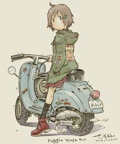 Motoneta girl