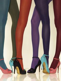 Gerbe // These are the best hosiery brand's Futura 40 tights. I want them in Mon Bleu and Pourpre.