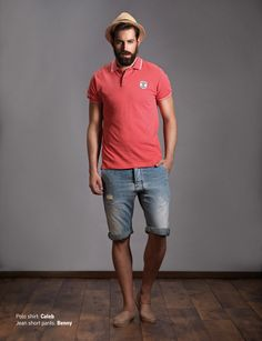 Polo Shirt: Caleb Jean Short Pants: Benny Discover Men's collection at www.staff-jeans.com/look-book-men/