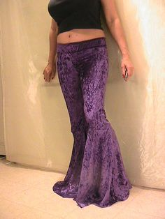 ATS Tribal Festival and Flamenco Flare Pants in Royal by Apia