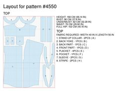 Tunic - Sewing Pattern #4550 Made-to-measure sewing pattern from Lekala with free online download. Loose fitting, Yoke, Shoulder straps, Asymetrical, Pleats, Gathers, Buttoned, V neck, Stand collar, Short sleeves