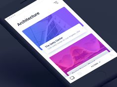 Architecture #ui #ux #animation #mobile #dribbble #gif #ios #iphone #interface #design