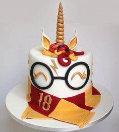 15 Captivating Unicorn Birthday Cakes - Find Your Cake Inspiration Harry Potter Unicorn Cake Harry Potter Theme Cake, Harry Potter Torte, Harry Potter Desserts, Cumpleaños Harry Potter, Harry Potter Birthday Cake, Unicorn Themed Cake, Unicorn Birthday, Unicorn Cakes, Geek Birthday