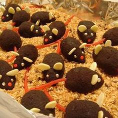 chocolate mice recipe http://allrecipes.com/recipe/chocolate-mice/