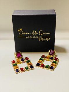 Kimono Jewelry Wood Earrings Flower Earrings Colorful Earrings Statement Jewelry Retro Earrings Japanese Earrings Botanical Jewelry