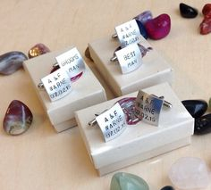 Personalized Hand Stamped Cufflinks  Custom by BlueCornerCreasigns