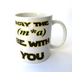 Star Wars Funny Mug. May the ma be with you May the by VikitoGifts