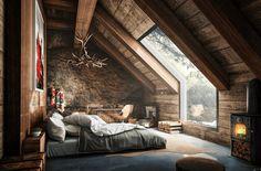 Фото из статьи: Неженственные спальни для прекрасной половины: 20 неслабых примеров