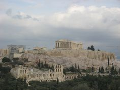 Acropolis! Greece! If I could hike and see this one day and then lay on the beach another...just a 2 day trip to Greece! I would be so happy! Or maybe a study abroad program :)